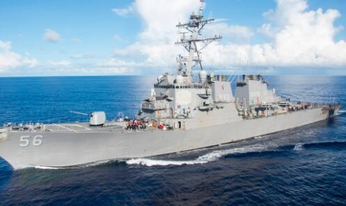 美撞船驱逐舰抵达海军基地 4伤员已乘直升机离开