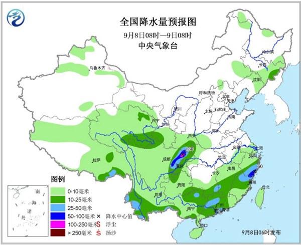 【四川等9省市】【三天公报有多少数】有暴雨今年华西秋雨或偏强