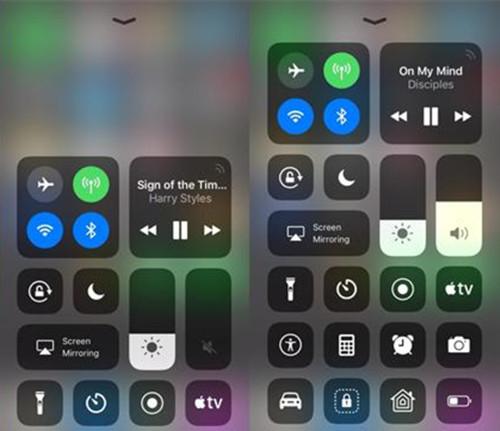 iOS11控制中心