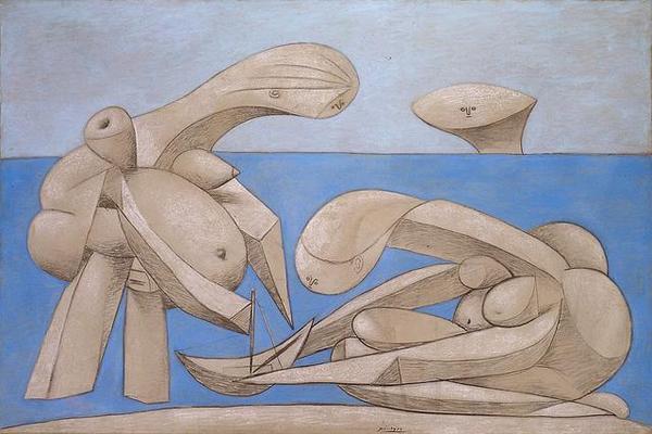 毕加索Picasso - 在沙滩上(On the Beach)