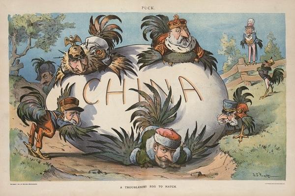 难以孵化的巨卵(A Troublesome Egg to Hatch),《顽童杂志》1901年4月6日,中心插页。