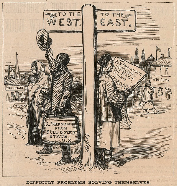 難題迎刃而解( Difficult Problems Solving Themselves),《哈潑斯周報》1879年3月29日,256頁。