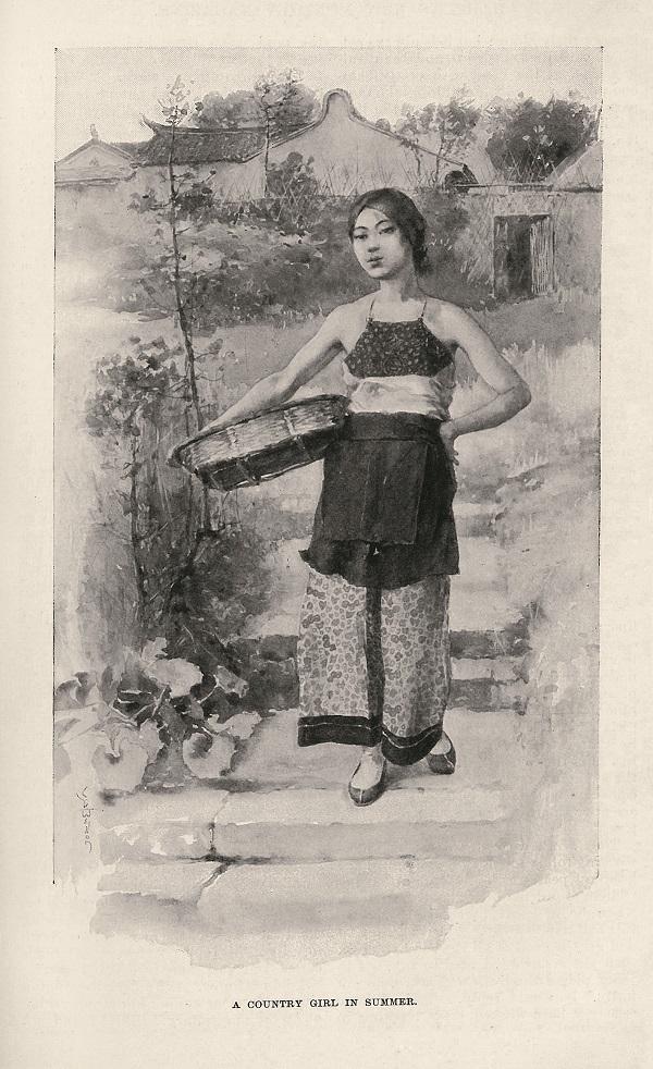 乡村少女(A Country Girl in Summer),《哈泼斯月报》1895年8月,359页。