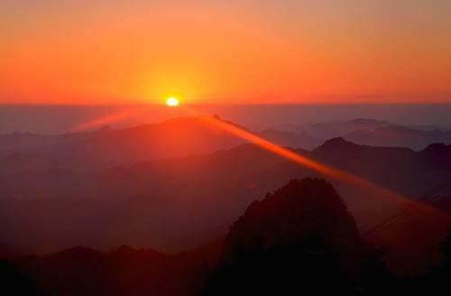 日出尧山给你这个冬季不一样的惊喜