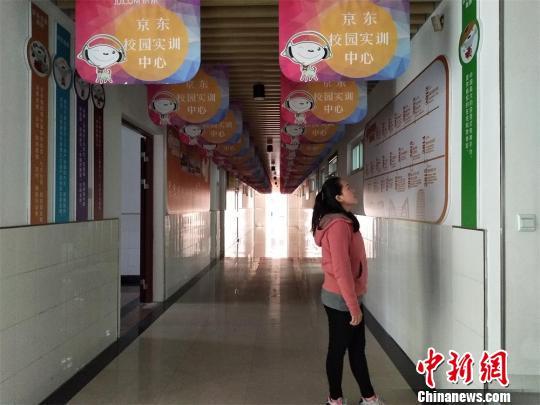 留学生在校园实训处。 魏佳文摄