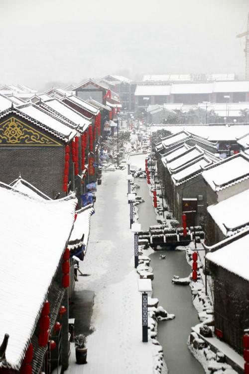 雪是严冬特为巩义石窟·偃月城准备的银装