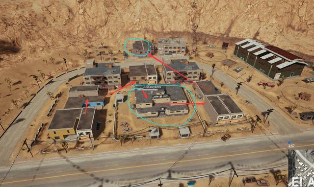 绝地求生:沙漠地图东部最肥资源点!落地98K加4倍镜几率超过55%
