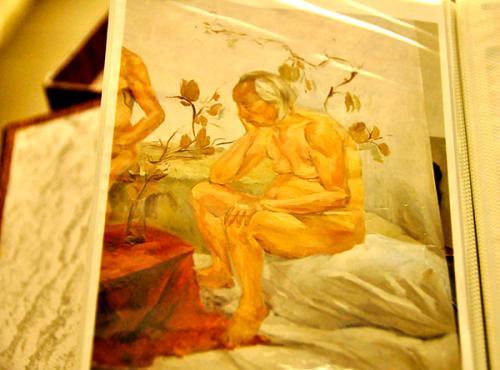 学生送给王肃中的作品,他很喜欢,称画得很像自己。