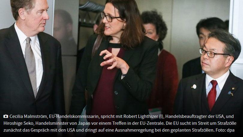 欧盟、日本要求与美国一起向WTO状告中国