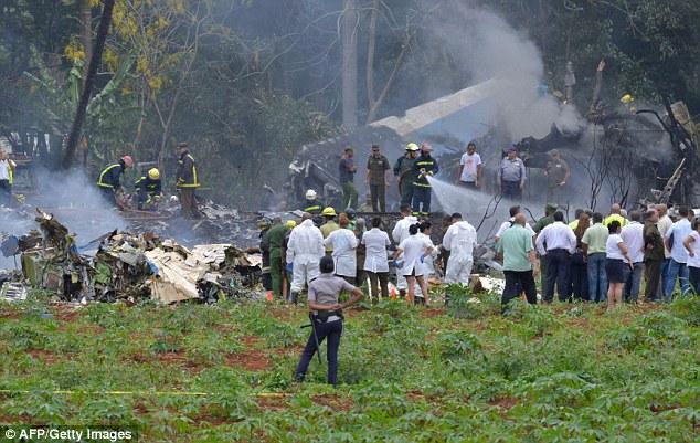 一架波音737在古巴哈瓦那机场坠毁 百余人遇难