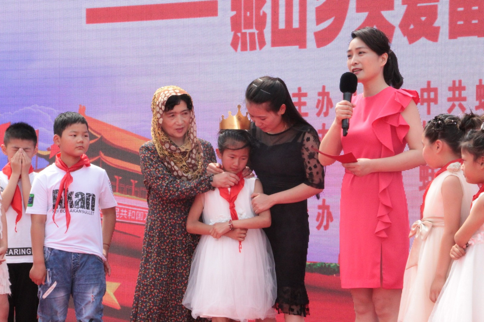 蚌山区燕山乡举行关爱留守儿童困境儿童公益活动启动仪式
