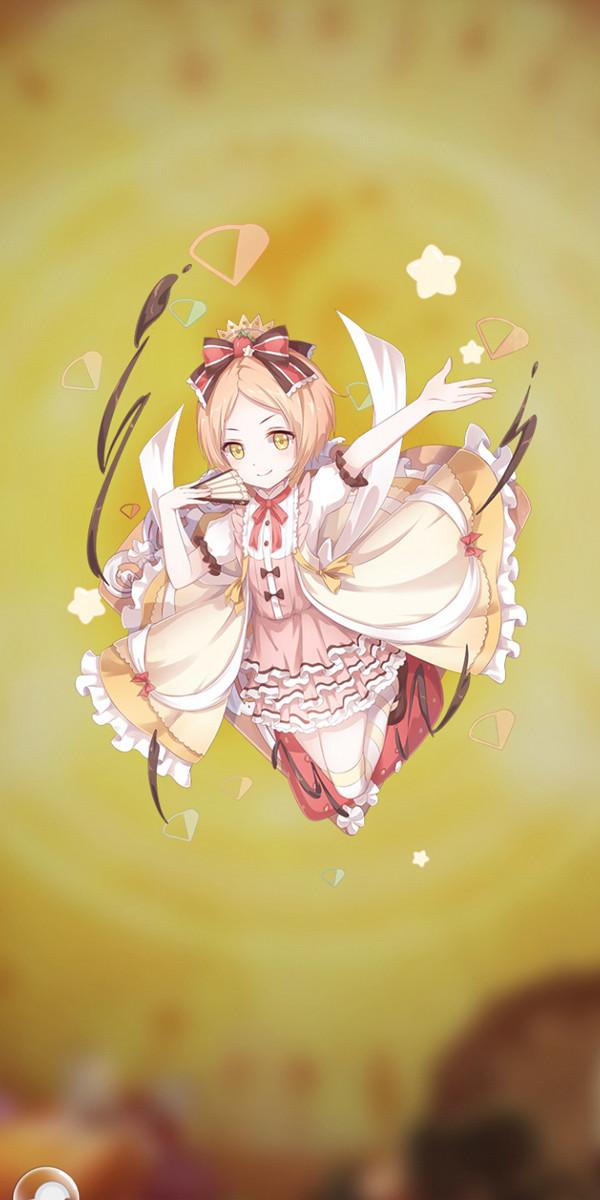拟人后的可丽饼化身为可爱的少女,穿着极具法国古典风格的套裙,身材