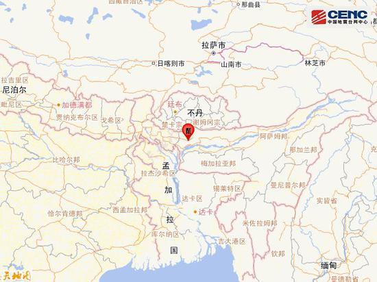 印度发生5.4级地震 震中距我国边境线最近约147公里