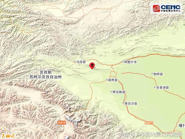 新疆喀什地区疏附县发生5.1级地震
