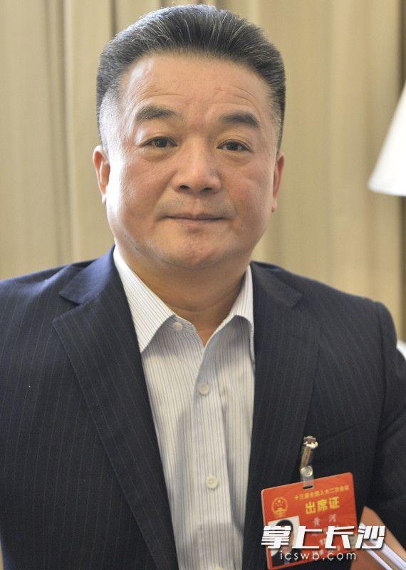 今日,黄河代表在北京接受本报记者采访。长沙晚报特派全媒体记者邹麟摄