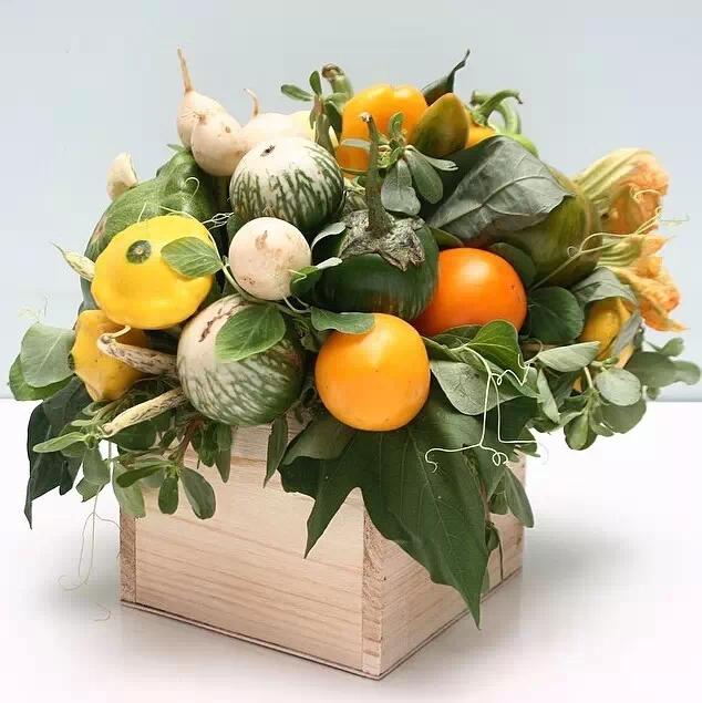 教程  蔬菜水果全都能插花?!比花花草草清新百倍哟