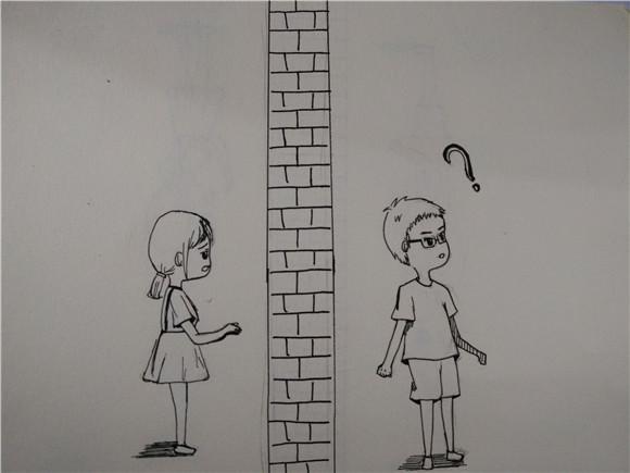 女生手绘图片表白