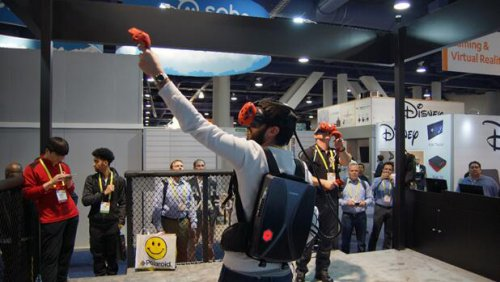 机械革命核心黑科技之一,移动便携式vr背包电脑.图片