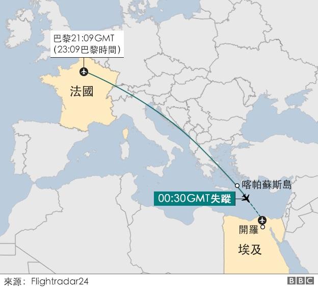 外媒:埃及失踪客机坠毁前机舱内探测到烟雾