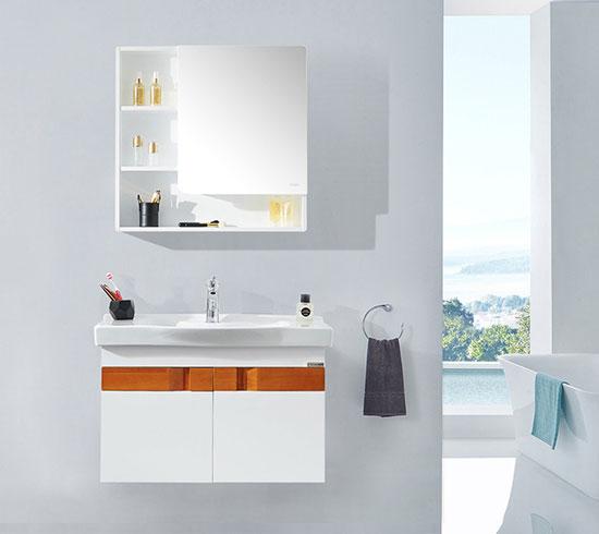 浪鲸现代简约实木带浴室柜BF6113