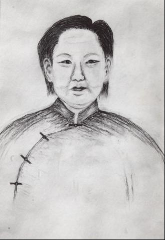 方祖岐母亲画像