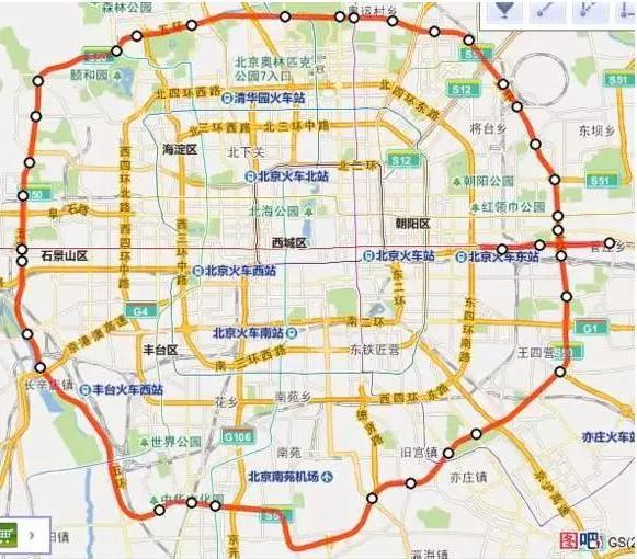 首都地区环线高速计划2016年底全线通车,在中国国家高速公路网编号为G95。   G95全长约940公里,经过廊坊、涿州、张家口、承德、平谷等地,其中河北境内约850公里。环线内有:燕郊、大厂、固安、涿州;环线外有:香河、廊坊、永清。北京市境内包括密涿高速北京段、承平高速北京段,约90公里。    看到没,这所谓七环的90%都在河北境内,所以,这几环的系统又是咱北京环路的叫法,所以,叫七环总觉得怪怪的.
