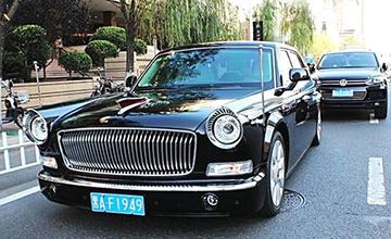 哈尔滨街头偶遇红旗L5 车牌号意义非同一般