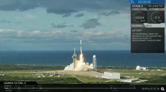 SpaceX完成今年第18次�l射 二手火箭�⑿l星送入�道