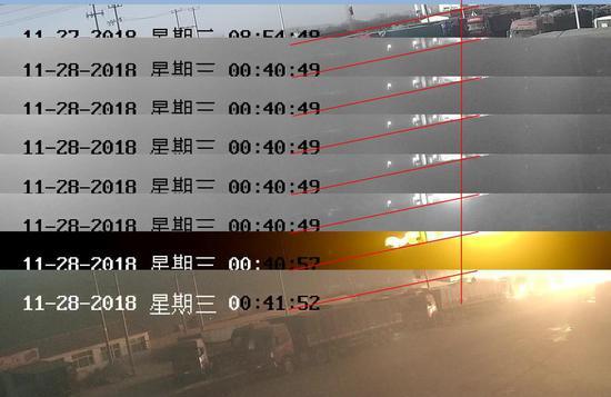 经校准,视频时间比北京时间慢6 秒
