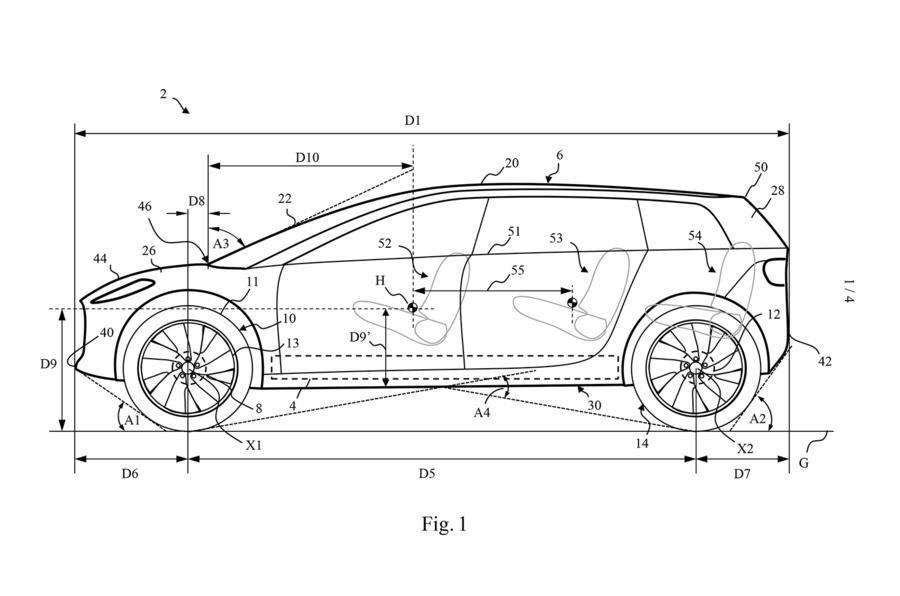 戴森电动车专利图正式曝光