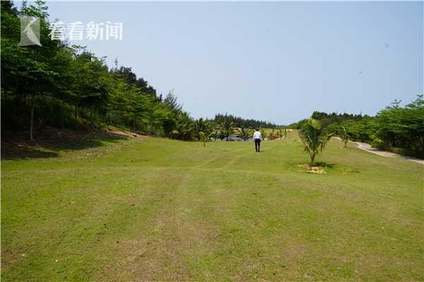 海南明日香高尔夫球场一角。