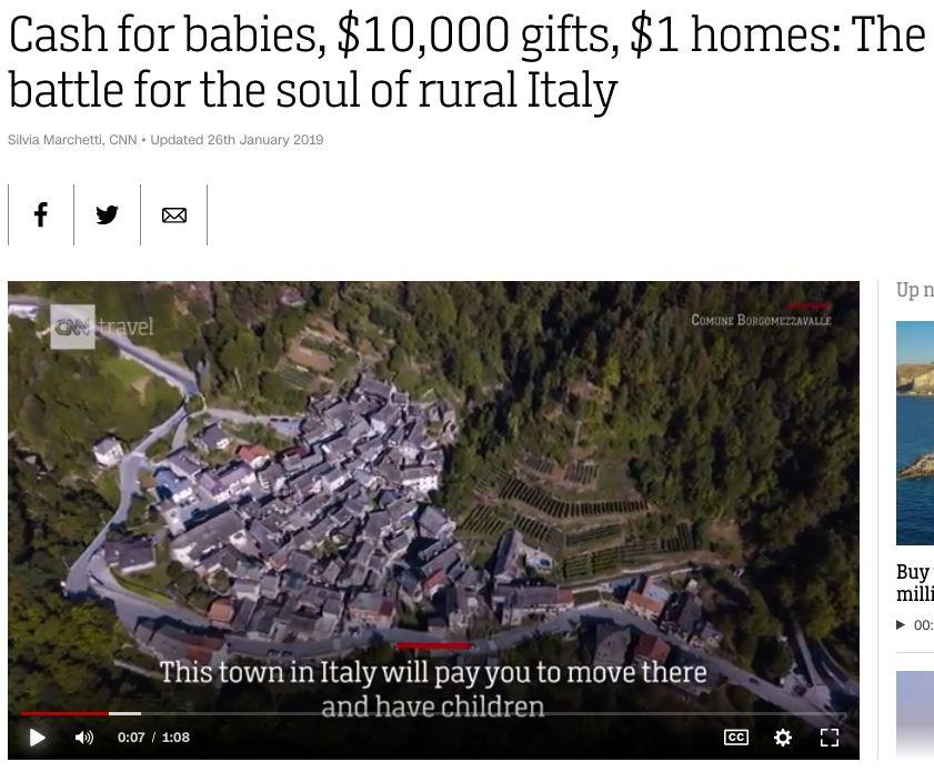 100多套房每套只卖1欧元!这个欧洲小镇为抢人太拼