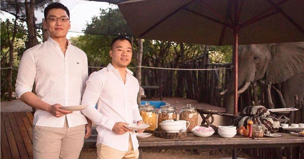 新加坡国父李光耀之孙在南非同男友结婚_两人恋爱六年
