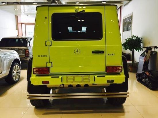 墨版奔驰G500 4X4黄色顶级越野实拍图解
