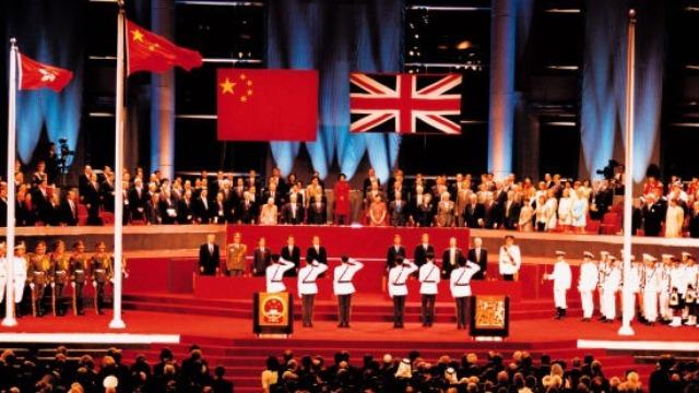 重温五星红旗在香港升起的画面 心潮澎湃如昨!