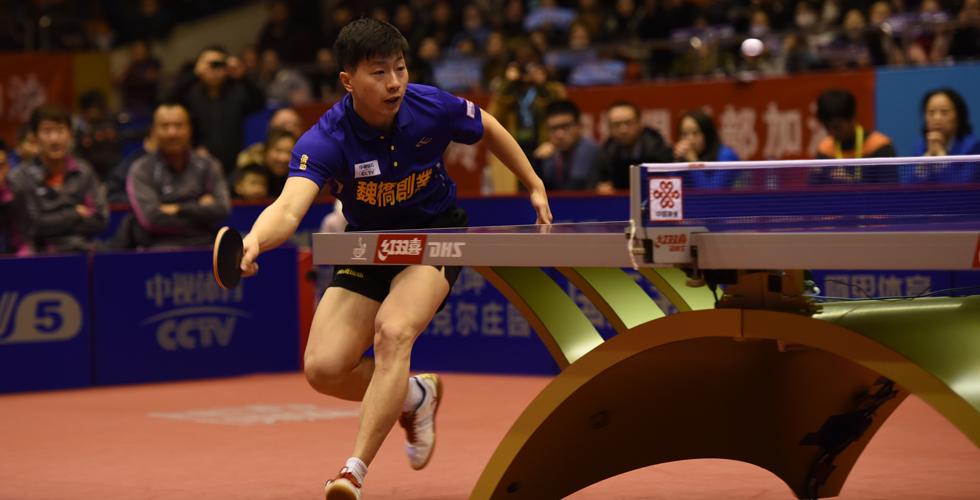 奥运冠军马龙现身合肥征战乒超