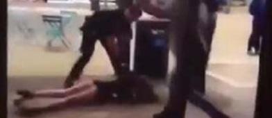 美国警察撂倒长腿美女 网友:这就是你们要的男女平等