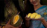 泰国水果自助餐现场 榴莲想吃多少吃多少