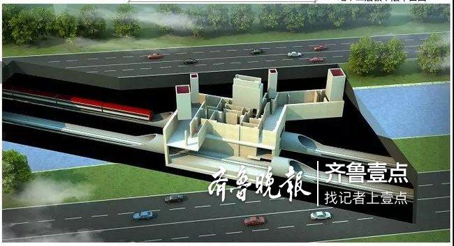 济南地铁r3线5车站效果图公布 出入口位置长这样