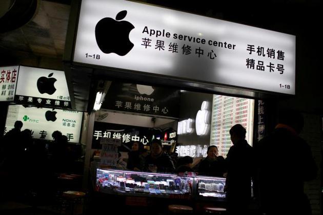上海一处手机卖场